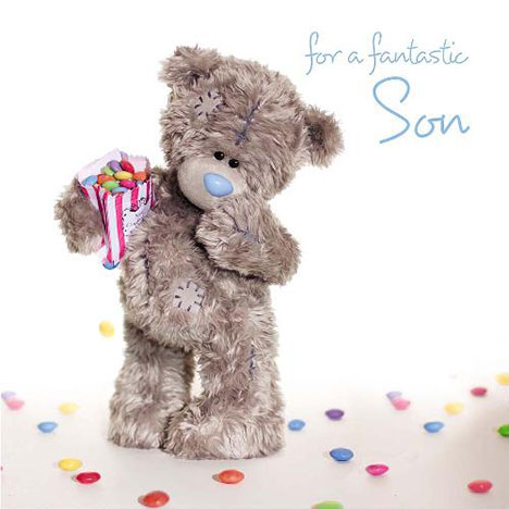3D Holographic Son Birthday Me to You Bear Card  £2.99