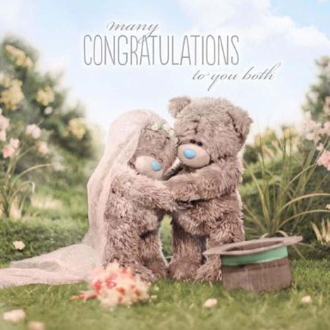 3D Holographic Me to You Bear Wedding Card  £2.99