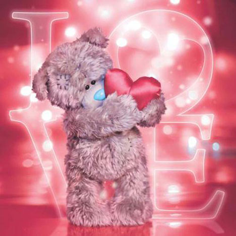 3D Holographic Tatty Teddy with Heart Me to You Bear Card   £2.99