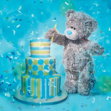 3D Holographic Birthday Cake Me to You Bear Card  £2.99