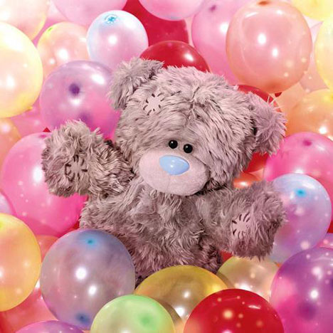 3D Holographic Me to You Bear Balloons Birthday Card  £2.99