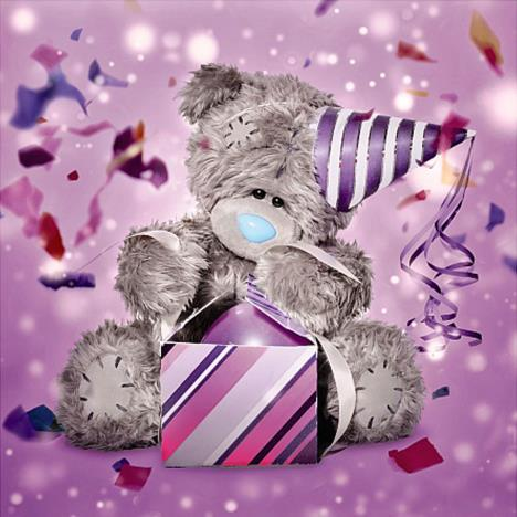 3D Holographic Bear With Party Hat Me to You Bear Card   £3.59