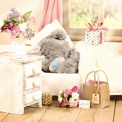 3D Holographic Sleeping Me To You Bear Birthday Card  £3.59