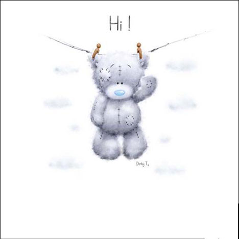 Hi! Friendship Tatty Teddy on Hanging Line Me to You Bear Card  £1.15