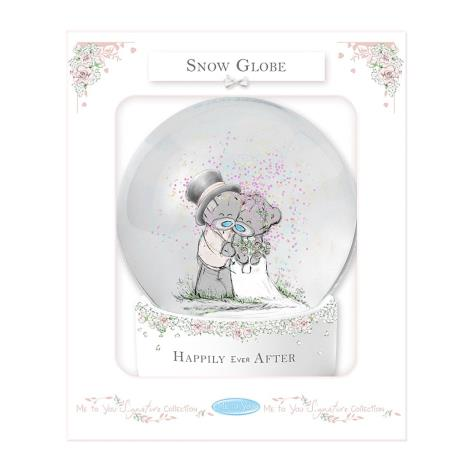 Happily Ever After Me to You Bear Wedding Snow Globe  £8.00