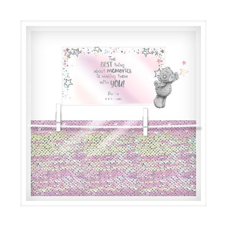 Best Memories Sequin Peg Photo Clip Me to You Bear Frame  £7.99