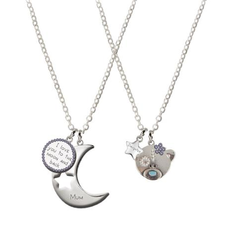 Mum & Daughter 2 Piece Me to You Bear Charm Necklace Set  £14.99