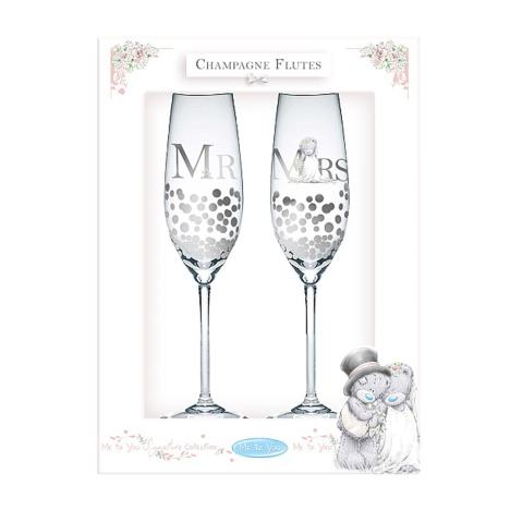 Mr & Mrs Me to You Bear Champagne Flutes  £15.00