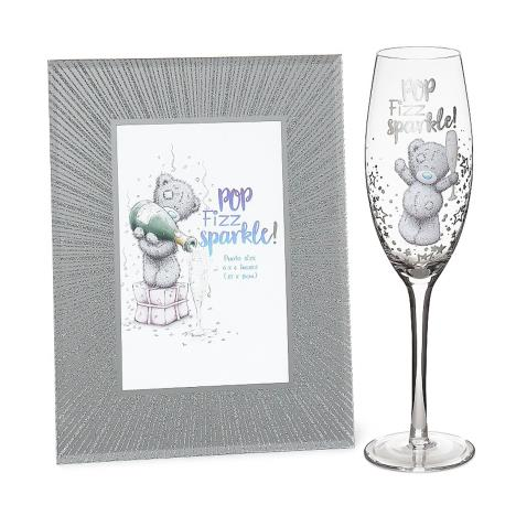 Sparkle Frame & Champagne Flute Me to You Bear Gift Set  £18.00