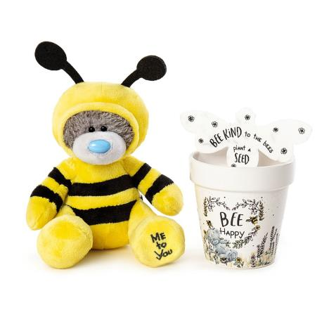"5"" Dressed as Bee, Plant Pot & Seeds Me to You Bears Gift Set  £14.99"