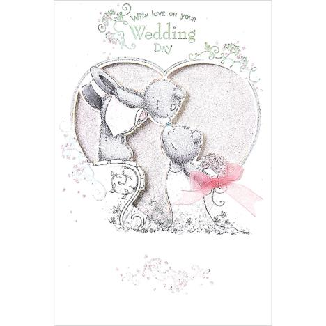 On Your Wedding Day Handmade Me To You Bear Wedding Day Card  £3.79