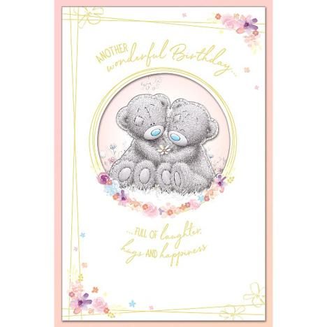 Bears Holding Daisy Handmade Me to You Bear Birthday Card  £3.59