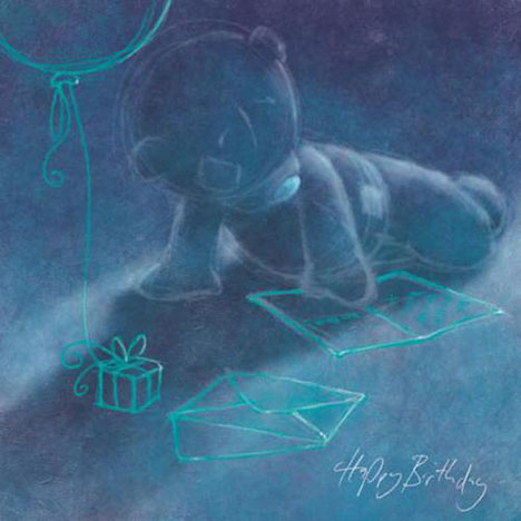 Happy Birthday Sketched Me to You Bear Card  £2.49