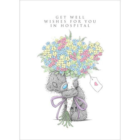 Get Well In Hospital Me to You Bear Card  £1.79