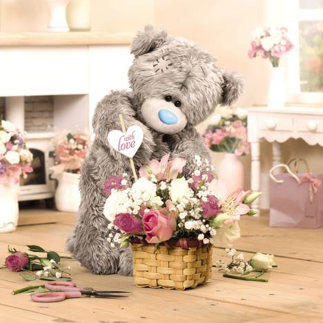 3D Holographic Basket of Flowers Me to You Bear Birthday Card   £2.69