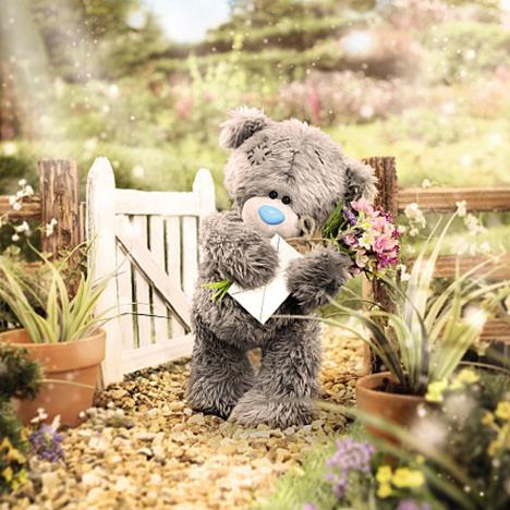 3D Holographic Holding Flowers Me to You Bear Card  £2.69