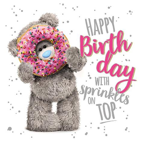 3D Holographic Holding Doughnut Me to You Bear Birthday Card  £2.69