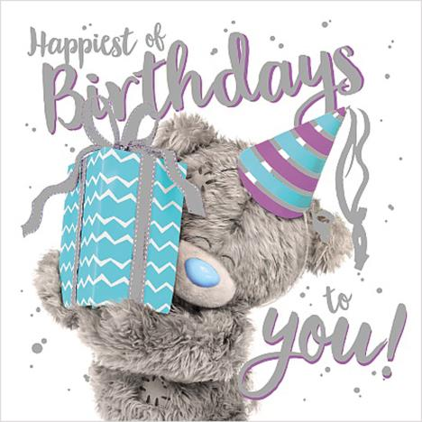 3D Holographic Giving Present Me to You Bear Birthday Card  £2.69