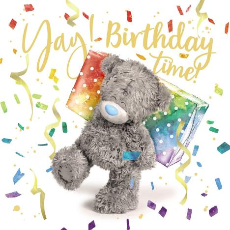 3D Holographic Birthday Time Me to You Bear Card  £2.69