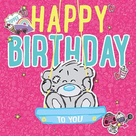 3D Holographic Bear On Swing Me to You Bear Birthday Card  £2.69