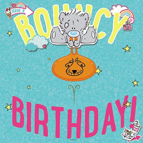 3D Holographic Bear On Space Hopper Me to You Bear Birthday Card  £2.69