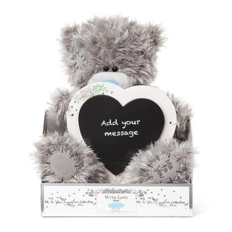 "9"" Personalise Your Own Heart Plaque Me To You Bear  £19.00"