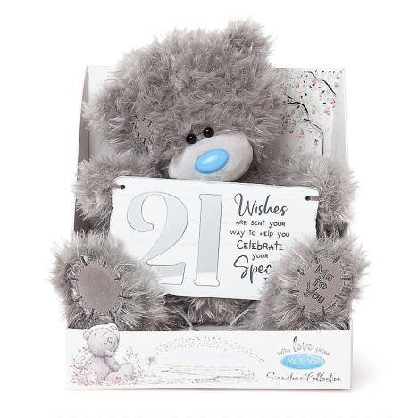 "9"" Holding 21st Birthday Plaque Me to You Bear  £19.00"