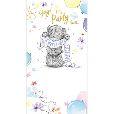 Tatty Teddy Holding Birthday Banner Me to You Bear Birthday Card  £2.19