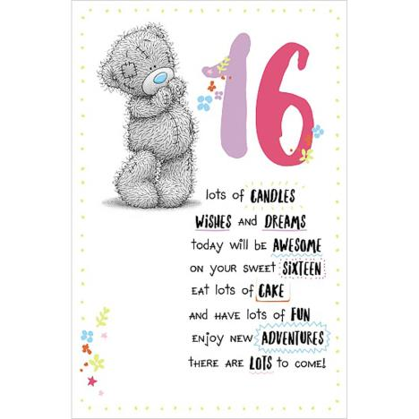 16th Birthday Me to You Bear Birthday Card  £1.89