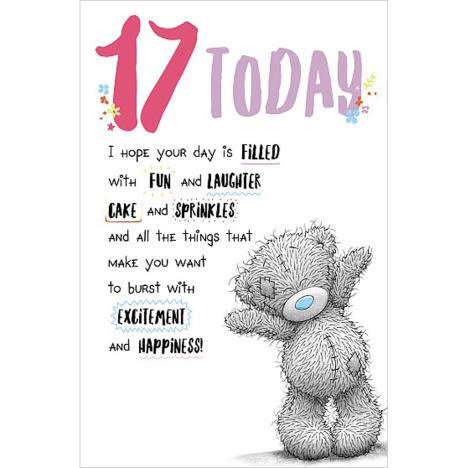 17 Today Me to You Bear Birthday Card  £1.89