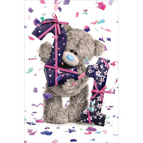 21st Birthday Photo Finish Me To You Bear Birthday Card  £2.19