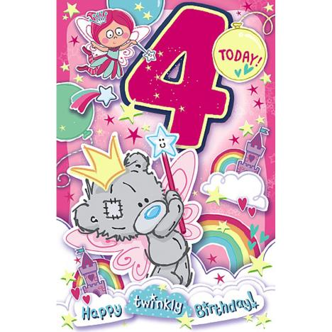 4 Today My Dinky Bear Me to You Bear 4th Birthday Card  £1.89