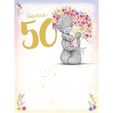 Fabulous 50th Large Me to You Bear Birthday Card  £3.59