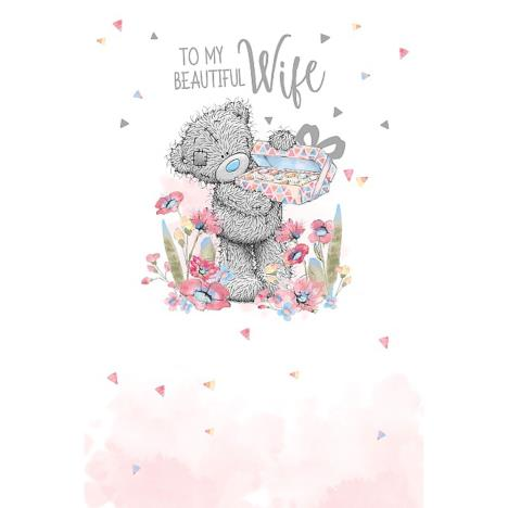 Beautiful Wife Holding Chocolates Me To You Bear Birthday Card  £2.49