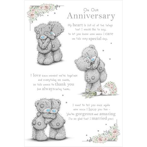 On Our Anniversary Poem Me to You Bear Anniversary Card  £2.49