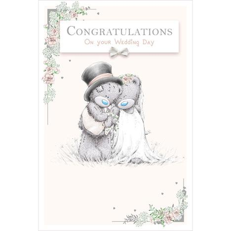 Congratulations Me to You Bear Wedding Day Card  £2.49