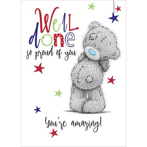Well Done Me To You Bear Card  £1.69
