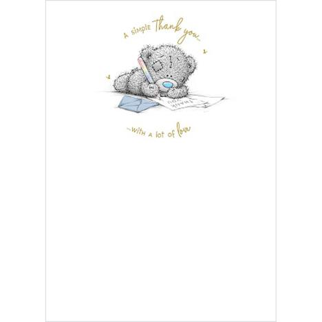 Bear Writing Note Me to You Bear Thank You Card  £1.79