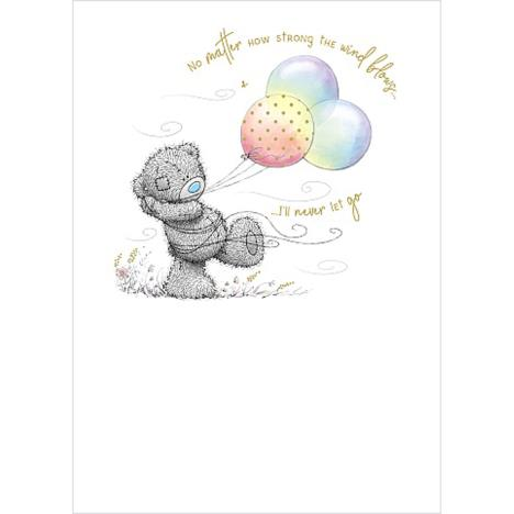 Bear and Rainbow Balloons Me to You Bear Card  £1.79