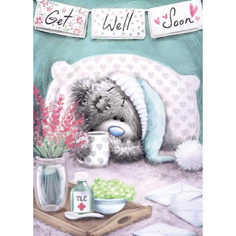 Get Well Soon Softly Drawn Me To You Bear Card  £1.79