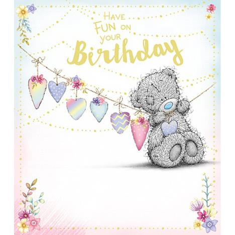 Tatty Teddy Hanging Bunting Me to You Bear Birthday Card  £1.89