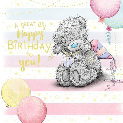 Tatty Teddy Tying Present Me to You Bear Birthday Card  £2.09