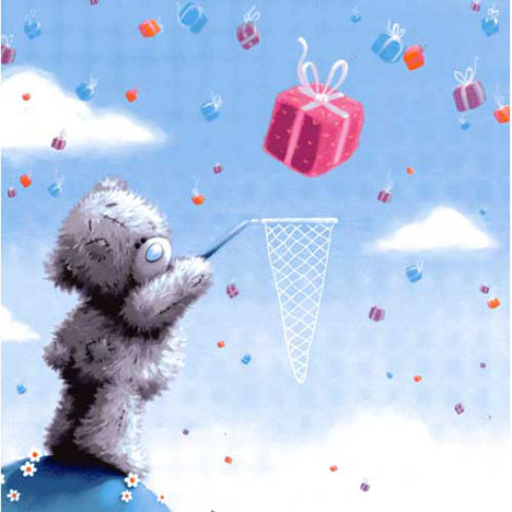 Bear with Net Me to You Bear Card   £2.25