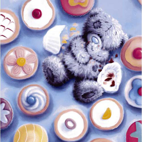 Bear in Cupcakes Me to You Bear Card   £2.25