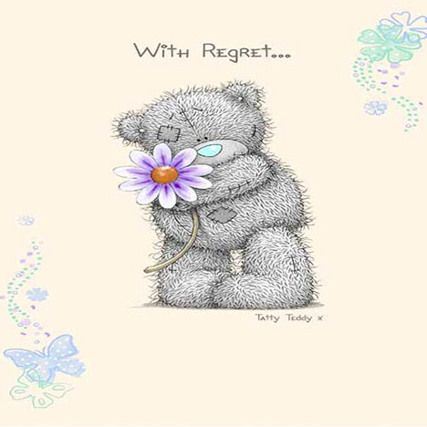 Me to You Bear Regret Notes   £1.20
