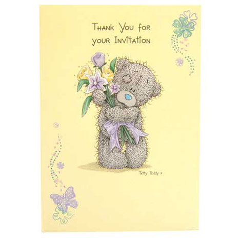 Me to You Bear Thanks Invites   £1.20