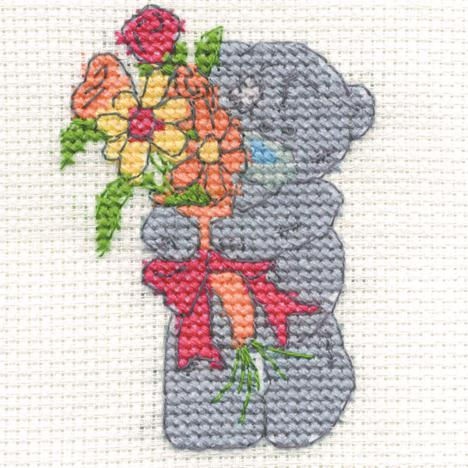 Just For You Me to You Bear Mini Cross Stitch Kit  £2.99