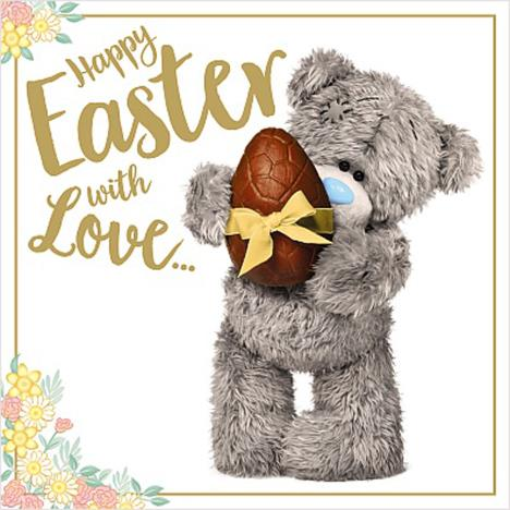 Holding Chocolate Egg Me to You Bear Easter Card  £1.49