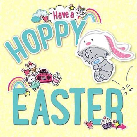 Hoppy Easter My Dinky Bear Me to You Bear Easter Card  £1.49