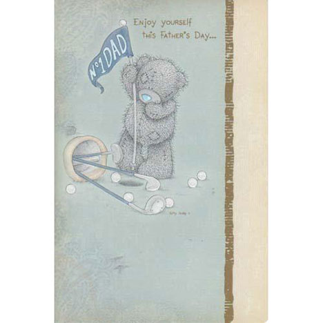No 1 Dad Golfing Me to You Bear Fathers Day Card  £2.40